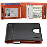 Money Clip Wallets for Men Slim Front Pocket RFID Blocking Wallet ID Window