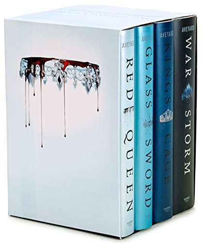 Red Queen 4-Book Hardcover Box Set: Books - Fantasy Red Glass