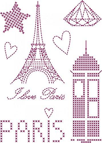 DMC Custom By Me Embroidery Transfer Magic Sheet Paris 2 (Dmc Transfer Embroidery)