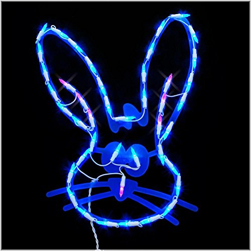 Outdoor Lighted Easter Bunny - 3