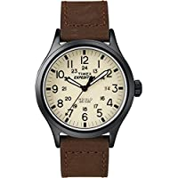 Men's T49963 Expedition Scout Brown Leather Strap Watch
