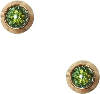 Boucles doreilles en acier chirurgical plaqu/é or st/ériles avec /étoile 4 mm