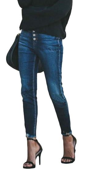 9fd80cf50 WSPLYSPJY Women's Jeans Slim Fit Ripped Jeans Comfy Stretch Skinny Jeans 1  XXS