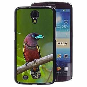 A-type Arte & diseño plástico duro Fundas Cover Cubre Hard Case Cover para Samsung Galaxy Mega 6.3 (Madagascar Tropical Bird Green Ornithology)