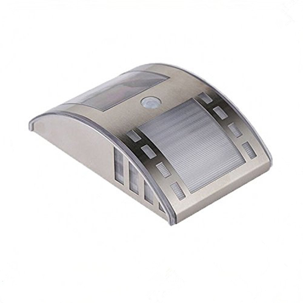 KingTop impermeable Luz Solar LED Motion Sensor de luz al aire libre Patio incluyendo, Hall, Jardín, porche y garaje, Solar Power Light Acero inoxidable 60 ...