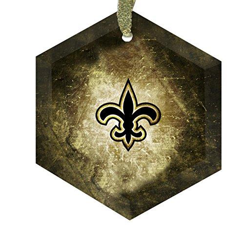 Home Accents New Orleans Saints Logo Fleurdelis - Crystal Christmas Ornament