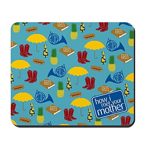 CafePress - HIMYM Pattern - Non-slip Rubber Mousepad, Gaming Mouse Pad ()