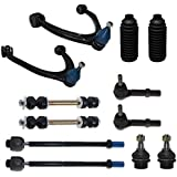 INEEDUP NEW 9 Set of Inner Outer Tie Rod Ends Lower Upper Ball Joint Idler Arm Compatible with for Chevy Avalanche Silverado Suburban GMC Sierra 1500 HD 2500 HD 3500 HD GMC Yukon XL 2500 Hummer H2