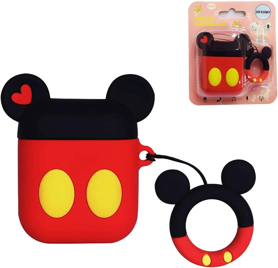 AKXOMY Compatible with Airpods Case, 3D Cute Cartoon Mickey Mouse Airpod Case, Charging Shockproof Earphone Case Cover for Apple AirPods 1&2 Case (Mickey)