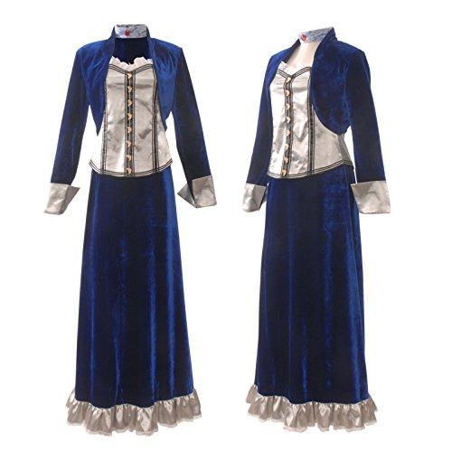 3-CM Elizabeth Costume Cosplay Lolita Full Set Party Show Halloween (Elizabeth Bioshock Cosplay Costume)