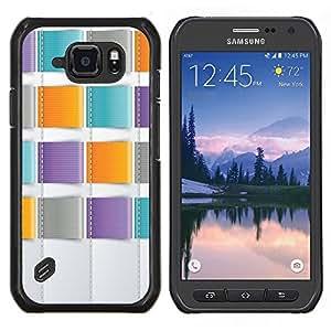 Stuss Case / Funda Carcasa protectora - Trullo púrpura anaranjado costura - Samsung Galaxy S6 Active G890A