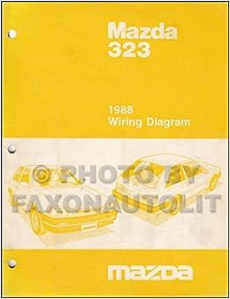 1988 mazda 323 hatchback and sedan wiring diagram manual original: mazda:  amazon com: books