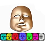 LED Photon Therapy Mask 7 Colors Light Treatment Facial Beauty Skin Care Mask-Golden
