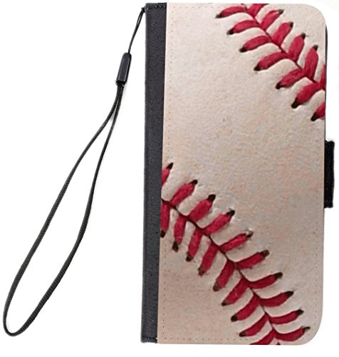 Rikki Knight Magnetic Clasp Closure Folio Case for Apple iPhone 7/Apple iPhone 8 - Baseball Close (Baseball Rotating Watch)