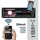 Som Automotivo Rádio Fm Mp3 Bluetooth USB SD 2RCA Controle Remoto