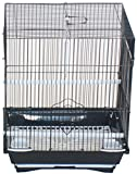 YML A1124MBLK Flat Top Small Parakeet Cage, 11Lx8.5Wx14H-Inch