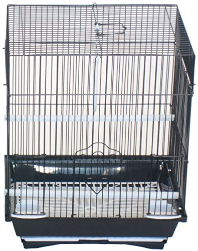 (YML A1124MBLK Flat Top Small Parakeet Cage, 11