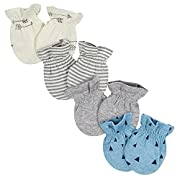 Gerber Baby Boys 4-Pack Mittens, Explore, 0-3 Months