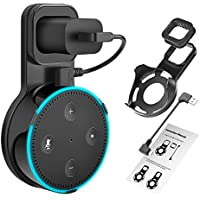 DAILYCOMB Echo Dot Wall Mount, Outlet Wall Mount Hanger Stand for Home Voice Assistants No Messy Wires or Screws Dot Accessories(Black)