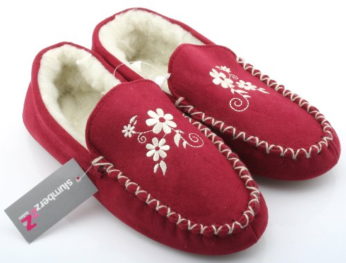 Claret 5 Slumberz Rouge Femme Chaussons 38 Pour UqwpPa