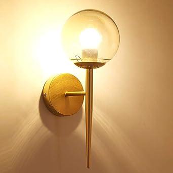 Lámpara de mesita de noche moderna de pared con luz de ...