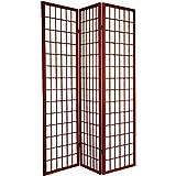 Major-Q Decoration Japanese Oriental Style Room Screen Divider (Cherry-3 Panels)