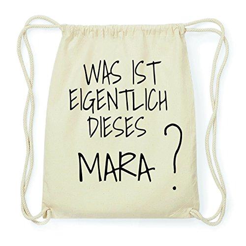 JOllify MARA Hipster Turnbeutel Tasche Rucksack aus Baumwolle - Farbe: natur Design: Was ist eigentlich 3OLsgy