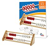 hand2mind 20-Bead Wood Rekenrek, Math Counting Frame with Activity Guide (Ages 4+)