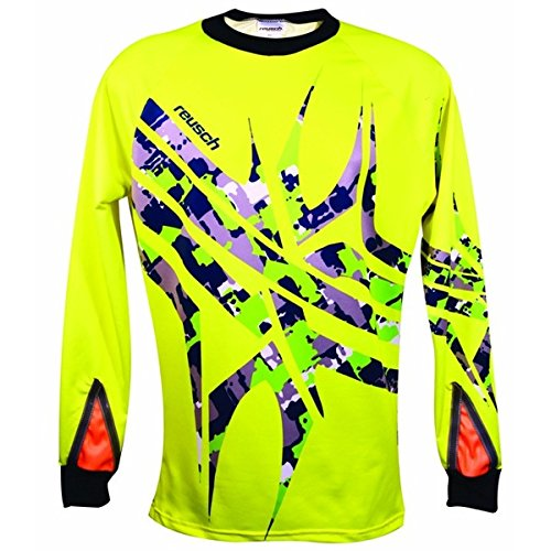 Reusch Soccer Arachnid Pro-Fit Goalkeeper Jersey, Safety Yellow, Large ()