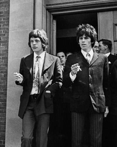 The Rolling Stones Mick Jagger Keith Richards Chichester Court 1967 8x10 Promotional Photo