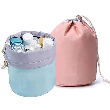 Amazon.com: GCOA 1 bolsa de maquillaje con forma de barril ...