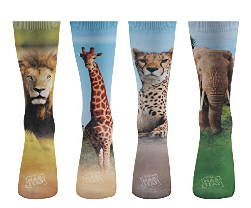 Wild Habitat Premium Sublimation Crew Socks for Gift One Size Fits Most