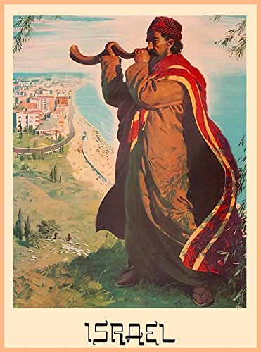 American Magnet MAGNET Israel Palestine Man Blowing Horn Vintage Travel Advertisement Art Magnet - Palestine Antique