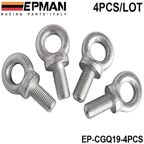 EPMAN Competition Harness Eye Bolt size:7/16 Set Of 4pcs For Racing Seat Safety Belt Harness EP-CGQ19-4PCS