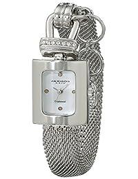 Akribos XXIV Women's AK510SS Mesh Wraparound Diamond Accented Quartz Watch