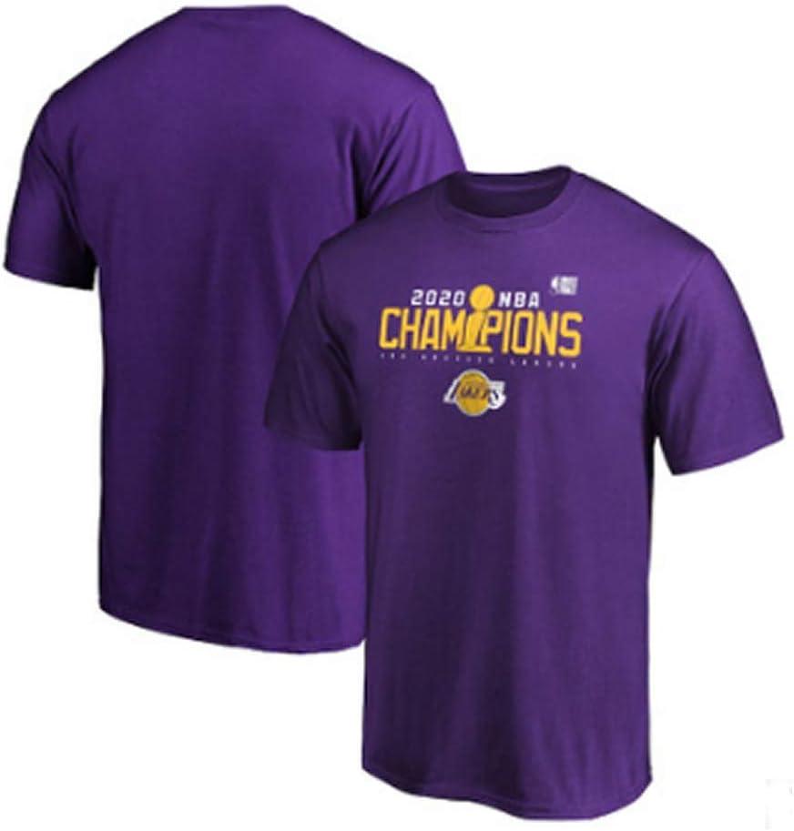N//G Camiseta Conmemorativa de los campeones de los Lakers 2020 Regalos para fan/áticos Uniformes de Baloncesto de los Lakers Camisetas de Entrenamiento Transpirables Ropa Deportiva y de Ocio