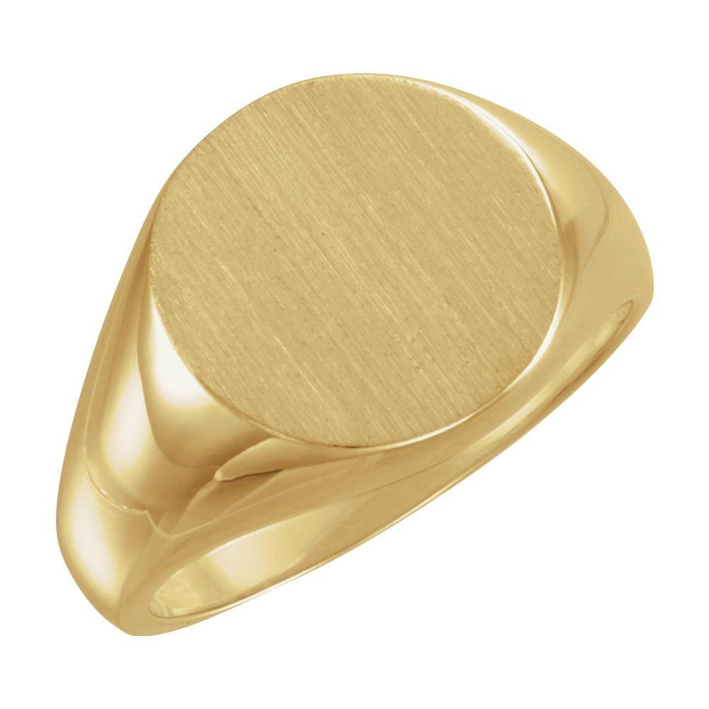 14ct Gelb Gold Siegelring 15mm Größe T 1/2 JewelryWeb TLR138072Y