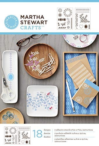 Martha Stewart Crafts Adhesive Stencils (5.75 by 7.75-Inch), 32271 18 Fair Isle Dots Designs
