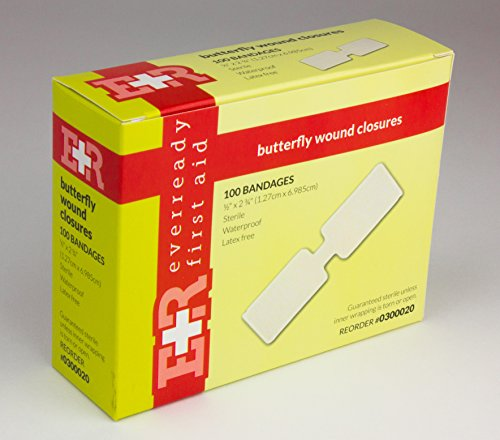 Ever Ready First Aid Large Butterfly Wound Clusure Strips 1/2