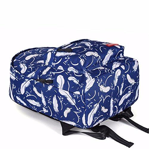 La Al Viajes del Gran Mochila De La 7 Libre Azul Fresco Bolsos del Aire Mochila 14 JIUSHIGUANG Poliéster De 30 Capacidad Pluma Literatura 40Cm De La Estudiante Usable qxcOZT8