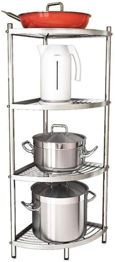 RMJAI ストレージラック ステンレス鋼キッチンラック三角形コーナーフレームキッチン多層鍋ラック用へらパン鍋