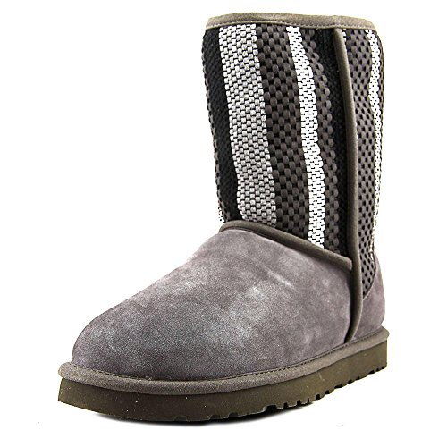 UGG Suede Boot Charcoal Woven Suede Classic Short Womens UxqwUTHra