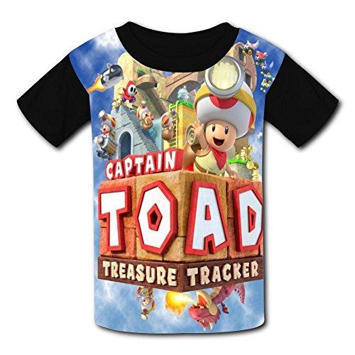Super Mushroom_Toad Youth Tees Shirts 3D Print Kids T-shirts -