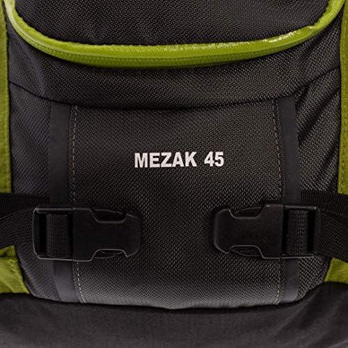 Trango Mochila Mezak 45, Unisex Adulto, Gris (Antracita/Verde), 36x24x45 cm (W x H x L)