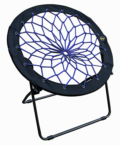 Zenithen Limited Bungee Folding Dish Chairs (Pack of 1, Indigo)