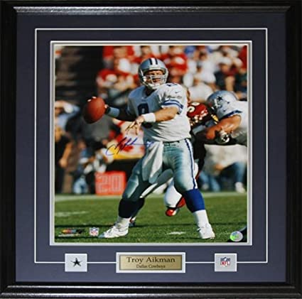 Image Unavailable. Image not available for. Color  Midway Memorabilia Troy  Aikman Dallas Cowboys 16X20 Signed Frame ca43ba7c2