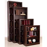 Midas Three Shelf Bookcase 36H Espresso Finish