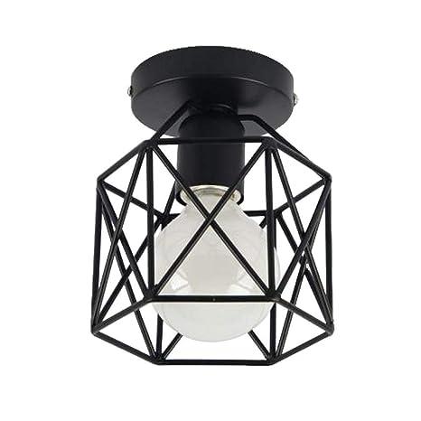 ACZZ Lámpara de techo Six Prisma 1 Bombilla E27 Lámpara de ...