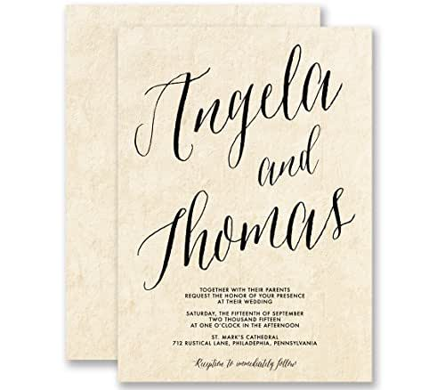 Calligraphy Wedding Invitations Parchment