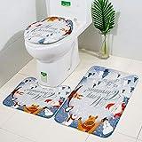 Vovomay 3pcs Christmas Floor Kitchen Door Bathroom Mat Non-Slip...
